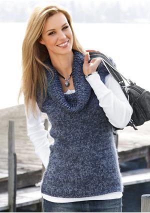 Пуловер CHEER. Цвет: темно-серый меланжевый