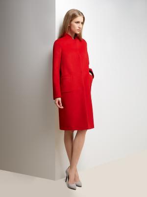 Пальто Pompa. Цвет: красный