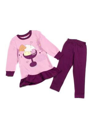 Комплект одежды PEPELINO. Цвет: бежевый, сиреневый