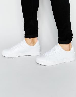ASOS Белые кроссовки на шнуровке. Цвет: белый