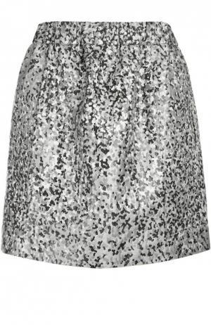 Жаккардовая мини-юбка с контрастным принтом Kenzo. Цвет: серый