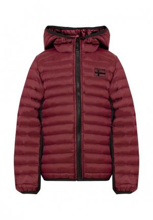 Куртка утепленная Finn Flare. Цвет: бордовый