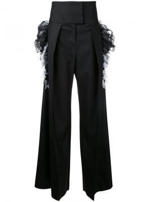 Широкие брюки с завышенной талией Preen By Thornton Bregazzi. Цвет: чёрный