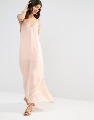 Flynn Skye Платье макси с вышитыми стрелками. Цвет: розовый