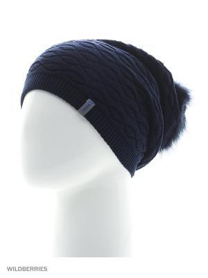 Прадо Беркле шапка женская с помпоном Berkle. Цвет: темно-синий