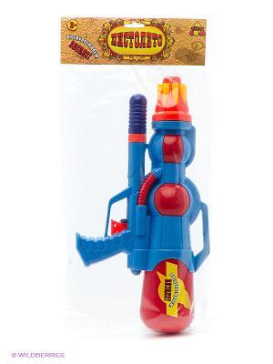 Водный пистолет с помпой 39х20см Тилибом. Цвет: прозрачный