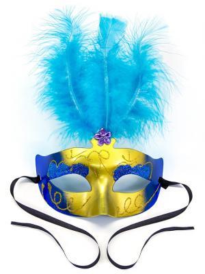 Маскарадная маска Венеция  ФЕСТА. Цвет: синий, бирюзовый, золотистый