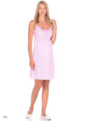 Сорочка для беременных и кормящих Hunny Mammy. Цвет: малиновый, розовый