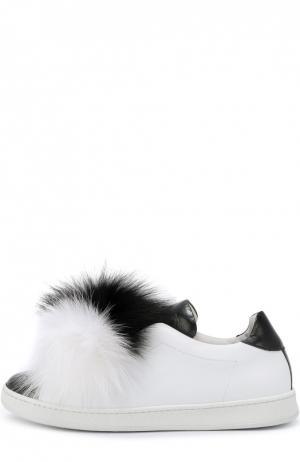 Кожаные кеды Pon с меховой отделкой Joshua Sanders. Цвет: черно-белый