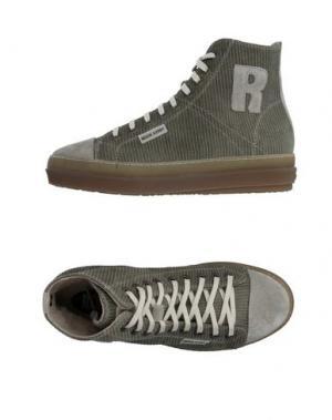 Высокие кеды и кроссовки RUCO LINE. Цвет: зеленый-милитари