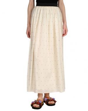 Длинная юбка LOU LONDON. Цвет: бежевый
