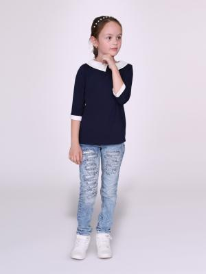 Блузка nasha. Цвет: синий