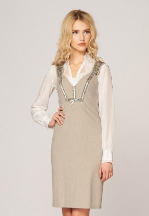 Платье Ано. Цвет: бежевый