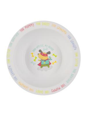 Глубокая тарелка для кормления FEEBING BOWL Happy Baby. Цвет: белый, морская волна, светло-серый