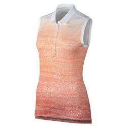 Женская рубашка-поло для гольфа без рукавов  Precision Nike. Цвет: оранжевый