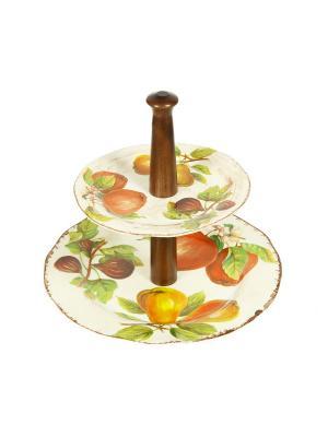 Блюдо-этажерка Sestesi. Цвет: молочный