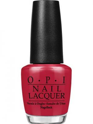 Opi Лак для ногтей Chick Flick Cherry, 15 мл. Цвет: красный