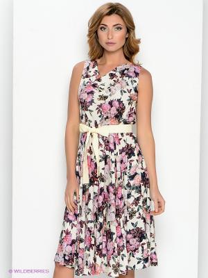 Платье Personage. Цвет: молочный, розовый, серый