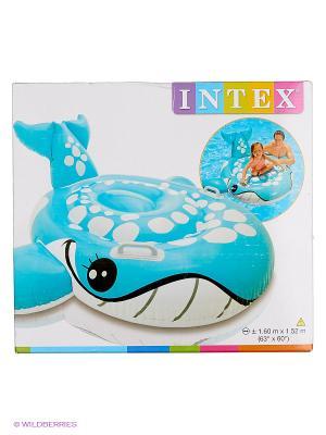 Надувная каталка Голубой кит Intex. Цвет: голубой, белый