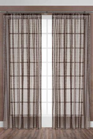 Тюль Сахара, 300х280 Daily by T. Цвет: коричневый