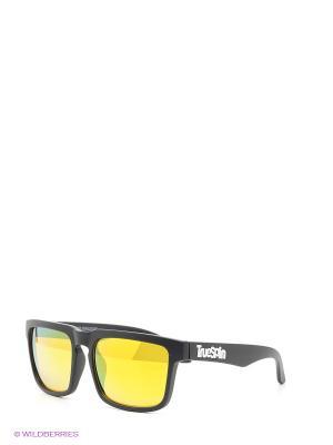 Солнцезащитные очки True Spin. Цвет: черный