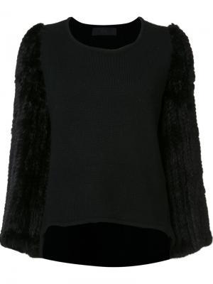 Fur sleeve sweater Co. Цвет: чёрный