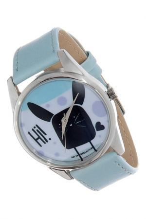 Часы Hi! MITYA VESELKOV. Цвет: серо-голубой