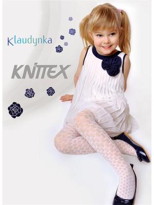 Колготки для девочки Knittex Klaudynka. Цвет: белый