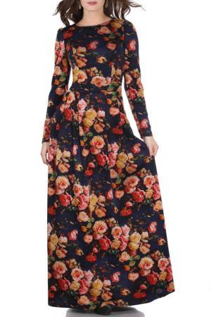 Платье Olivegrey. Цвет: розы, синий
