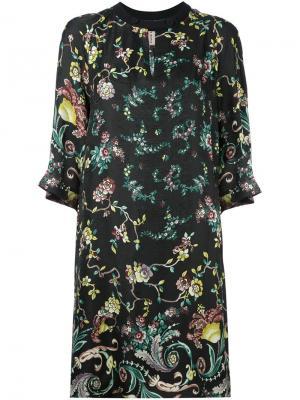 Платье-шифт с цветочным принтом Antonio Marras. Цвет: чёрный
