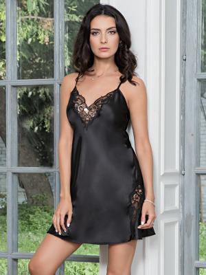 Ночная сорочка MIA-MELLA. Цвет: черный