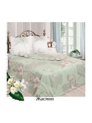 Постельное белье 2 сп. Sova and Javoronok. Цвет: белый, светло-зеленый, бежевый