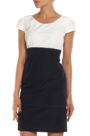 Платье MODART. Цвет: белый, синий