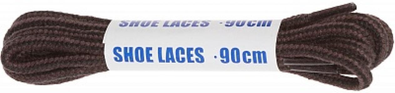 Шнурки черно-коричневые круглые  Sport, 90 см Woly