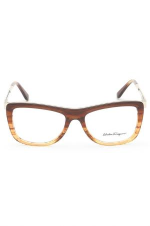 Очки корригирующие Salvatore Ferragamo. Цвет: коричневый