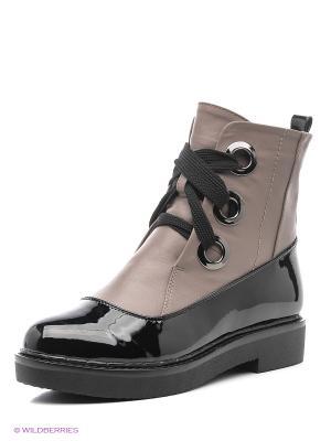 Ботинки Gene. Цвет: бежевый, черный