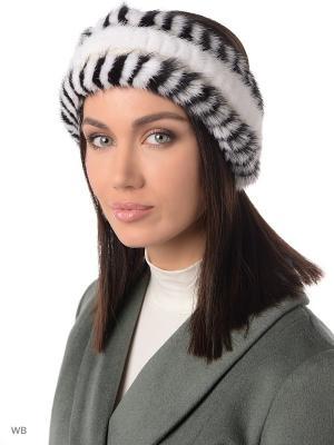 Повязка на голову Ваша Шляпка. Цвет: белый, черный