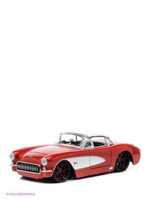 Модель машины 1:24 1957 Chevy Corvette -V- Spek Jada. Цвет: красный
