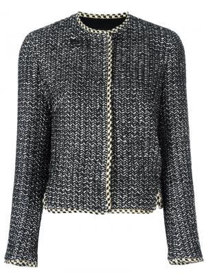 Пиджак с потайной застежкой Giambattista Valli. Цвет: чёрный