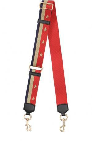 Ремень для сумки Stars and Stripes Marc Jacobs. Цвет: красный