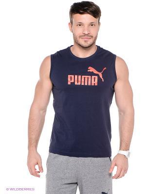 Майка ESS No.1 Logo SL Tee Puma. Цвет: темно-синий