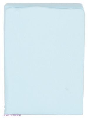 Простыня на резинке Kupu. Цвет: светло-голубой
