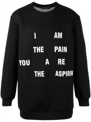 Oversized slogan sweatshirt Nicola Indelicato. Цвет: чёрный