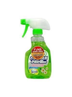 Funs спрей чистящий для ванной комнаты с ароматом свежей зелени 400 мл. Цвет: зеленый