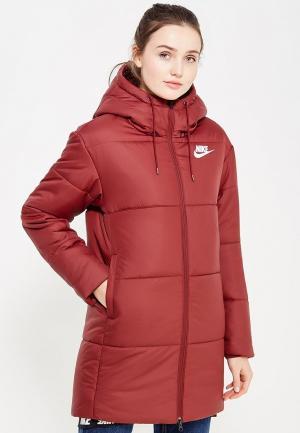 Куртка утепленная Nike. Цвет: бордовый