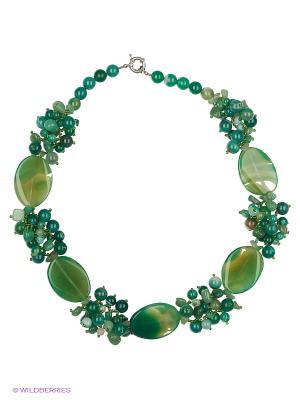 Колье Красота Природы. Цвет: зеленый, серо-зеленый, серебристый