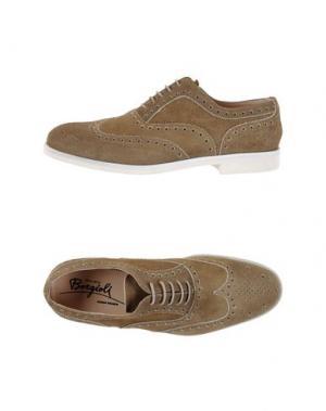 Обувь на шнурках BORGIOLI. Цвет: бежевый