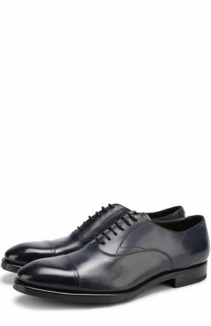 Классические кожаные оксфорды H`D`S`N Baracco. Цвет: темно-синий