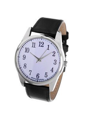 Часы Mitya Veselkov Цифры и насечки на белом. Цвет: белый