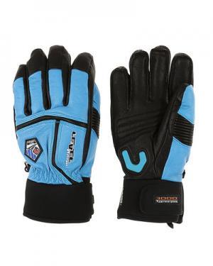 Лыжные перчатки  Off Piste Leather level. Цвет: синий